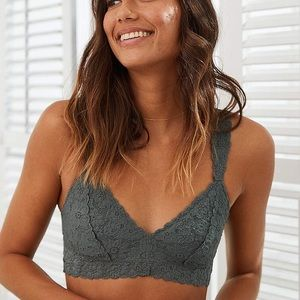 Aerie Olive Lace Bralette